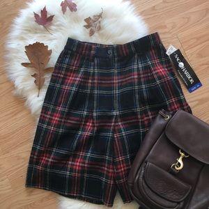 🍁 Vintage NWT plaid wool 90s high waisted shorts